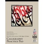 "Bee Paper® Calligraphy Practice Pad 9"" x 12""; Binding: Tape Bound; Color: White/Ivory; Format: Pad; Quantity: 50 Sheets; Size: 9"" x 12""; Weight: 16 lb; (model B1005T50-912), price per 50 Sheets pad"