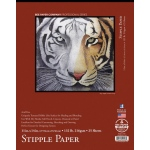 "Bee Paper® Stipple Paper Pad 11"" x 14"": Tape Bound, Pad, 25 Sheets, 11"" x 14"", Stipple, Mixed Media, 132 lb, (model B1013T25-1114), price per 25 Sheets pad"