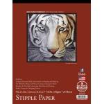 "Bee Paper® Stipple Paper Pad 9"" x 12"": Tape Bound, Pad, 25 Sheets, 9"" x 12"", Stipple, 132 lb, (model B1013T25-912), price per 25 Sheets pad"