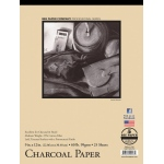 "Bee Paper® Charcoal Paper Pad 9"" x 12""; Binding: Tape Bound; Color: White/Ivory; Format: Pad; Quantity: 25 Sheets; Size: 9"" x 12""; Type: Charcoal; Weight: 60 lb; (model B1021T25-912), price per 25 Sheets pad"