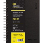 "Bee Paper® Bee Creative Marker Book 5.5"" x 8""; Binding: Wire Bound; Color: White/Ivory; Format: Pad; Quantity: 50 Sheets; Size: 5.5"" x 8""; Type: Marker; Weight: 108 lb; (model B20001), price per each"