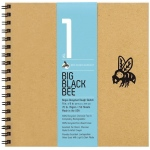 "Bee Paper® Big Black Bee Bogus Recycled Rough Sketch Paper Pad 9"" x 9"": Wire Bound, Brown, Pad, 50 Sheets, 9"" x 9"", Drawing, 70 lb, (model B202CB50-909), price per 50 Sheets pad"