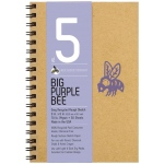 "Bee Paper® Big Purple Bee Gray Recycled Rough Sketch Paper 9"" x 6""; Binding: Wire Bound; Color: Black/Gray; Format: Pad; Quantity: 50 Sheets; Size: 9"" x 6""; Type: Drawing; Weight: 70 lb; (model B206CB50-609), price per 50 Sheets pad"
