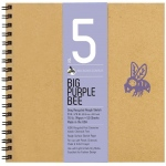 "Bee Paper® Big Purple Bee Gray Recycled Rough Sketch Paper 9"" x 9""; Binding: Wire Bound; Color: Black/Gray; Format: Pad; Quantity: 50 Sheets; Size: 9"" x 9""; Type: Drawing; Weight: 70 lb; (model B206CB50-909), price per 50 Sheets pad"