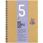 "Bee Paper® Big Purple Bee Gray Recycled Rough Sketch Paper 12"" x 9""; Binding: Wire Bound; Color: Black/Gray; Format: Pad; Quantity: 50 Sheets; Size: 9"" x 12""; Type: Drawing; Weight: 70 lb; (model B206CB50-912), price per 50 Sheets pad"