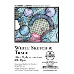 """Bee Paper® White Sketch & Trace Roll 18"""" x 20yd: White/Ivory, Roll, 18"""" x 20 yd, Tracing, (model B515R-2018), price per roll"""