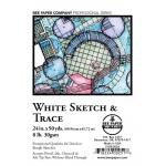 """Bee Paper® White Sketch & Trace Roll 24"""" x 50yd: White/Ivory, Roll, 24"""" x 50 yd, Tracing, (model B515R-5024), price per roll"""