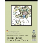 "Bee Paper® Bleed Proof Extra Fine Trace Pad 9"" x 12""; Binding: Tape Bound; Format: Pad; Quantity: 50 Sheets; Size: 9"" x 12""; Type: Tracing; Weight: 25 lb; (model B525T50-912), price per 50 Sheets pad"