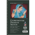 "Bee Paper® Globetrotter Premium Sketch Pad 8.5"" x 5.5""; Binding: Wire Bound; Color: White/Ivory; Format: Pad; Quantity: 70 Sheets; Size: 5.5"" x 8.5""; Type: Drawing; Weight: 80 lb; (model B6080S70-5585), price per 70 Sheets pad"