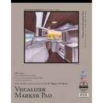 "Bee Paper® Visualizer Marker Pad 11"" x 14""; Binding: Tape Bound; Color: White/Ivory; Format: Pad; Quantity: 50 Sheets; Size: 11"" x 14""; Type: Marker; Weight: 14 lb; (model B637T50-1114), price per 50 Sheets pad"