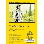 "Bee Paper® Co-Mo Sketch Roll 24"" x 10yd: White/Ivory, Roll, 24"" x 10 yd, Drawing, 80 lb, (model B820R-1024), price per roll"
