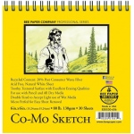 """Bee Paper® Co-Mo Sketch Pad 6"""" x 6""""; Binding: Wire Bound; Color: White/Ivory; Format: Pad; Quantity: 30 Sheets; Size: 6"""" x 6""""; Type: Drawing; Weight: 80 lb; (model B820S30-606), price per 30 Sheets pad"""