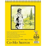 "Bee Paper® Co-Mo Sketch Pad 8"" x 10""; Binding: Wire Bound; Color: White/Ivory; Format: Pad; Quantity: 30 Sheets; Size: 8"" x 10""; Type: Drawing; Weight: 80 lb; (model B820S30-810), price per 30 Sheets pad"