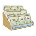 Bee Paper® The Hampton Mini Sketch Book Counter Display: Display, Sketching, (model B825SS-CD), price per each