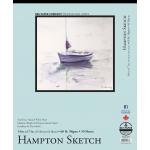 "Bee Paper® Hampton Sketch Pad 14"" x 17"": Tape Bound, White/Ivory, Pad, 50 Sheets, 14"" x 17"", Sketching, 60 lb, (model B825T50-1417), price per 50 Sheets pad"