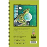 """Bee Paper® Premium Recycled Sketch Pad 8.5"""" x 5.5"""": Wire Bound, White/Ivory, Pad, 50 Sheets, 5.5"""" x 8.5"""", Sketching, 70 lb, (model B837S50-5585), price per 50 Sheets pad"""