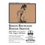 """Bee Paper® Bogus Recycled Rough Sketch Sheets 18"""" x 24""""; Color: Brown; Format: Sheet; Quantity: 100 Sheets; Size: 18"""" x 24""""; Type: Sketching; Weight: 70 lb; (model B892P100-1824), price per 100 Sheets"""