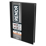 "Crescent® RENDR® All Media No Show Thru Paper Hardbound Sketchbook 8 1/2"" x 11"": Glue Bound, White/Ivory, Book, 8 1/2"" x 11"", Smooth, Drawing, Marker, 110 lb, (model C12-00011), price per each"