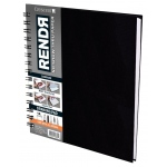 "Crescent® RENDR® All Media No Show Thru Paper Wire Bound Sketchbook 8"" x 8""; Binding: Wire Bound; Color: White/Ivory; Format: Book; Size: 8"" x 8""; Texture: Smooth; Type: Drawing, Marker; Weight: 110 lb; (model C12-00017), price per each"