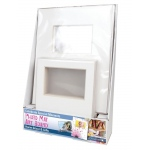"Crescent® 8"" x 10"" + 11"" x 14"" Photo Mat Art Board Counter Display; Color: White/Ivory; Format: Frame; Material: Pre-Cut Mat Board; Size: 11"" x 14"", 8"" x 10""; Thickness: 1/8""; Type: Presentation Board; (model C12-105), price per each"