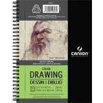 "Canson® Artist Series 5 1/2"" x 8 1/2"" Drawing Pad (Side Wire); Binding: Wire Bound; Color: White/Ivory; Format: Pad; Size: 5 1/2"" x 8 1/2""; Texture: Medium; Type: Drawing; Weight: 90 lb; (model C400059707), price per each"