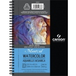 "Canson® Artist Series Montval® 5 1/2"" x 8 1/2"" Cold Press Watercolor Pad (Side Wire); Binding: Wire Bound; Color: White/Ivory; Format: Pad; Size: 5 1/2"" x 8 1/2""; Texture: Cold Press; Type: Watercolor; Weight: 140 lb; (model C400059878), price per each"