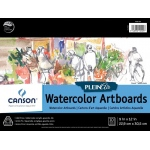 "Canson® Plein Air 9"" x 12"" Plein Air Watercolor Artboard Pad (Glue Bound); Binding: Glue Bound; Color: White/Ivory; Format: Pad; Size: 9"" x 12""; Texture: Cold Press; Type: Watercolor; Weight: 140 lb; (model C400061698), price per pad"