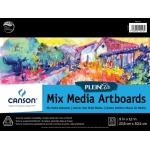 "Canson® Plein Air 9"" x 12"" Plein Air Mixed Media Artboard Pad (Glue Bound); Binding: Glue Bound; Color: White/Ivory; Format: Pad; Size: 9"" x 12""; Texture: Fine, Medium; Type: Mixed Media; Weight: 138 lb; (model C400061731), price per pad"
