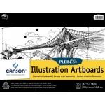 "Canson® Plein Air 12"" x 16"" Plein Air Illustration Artboard Pad (Glue Bound): Glue Bound, White/Ivory, Pad, 12"" x 16"", Ultra Smooth, Illustration, 150 lb, (model C400061735), price per pad"