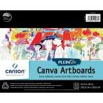 "Canson® Plein Air 8"" x 10"" Plein Air Canva-Paper Artboard Pad (Glue Bound): Glue Bound, White/Ivory, Pad, 8"" x 10"", Canvas, Canvas, 136 lb, (model C400061736), price per pad"