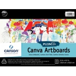 "Canson® Plein Air 9"" x 12"" Plein Air Canva-Paper Artboard Pad (Glue Bound); Binding: Glue Bound; Color: White/Ivory; Format: Pad; Size: 9"" x 12""; Texture: Canvas; Type: Canvas; Weight: 136 lb; (model C400061737), price per pad"