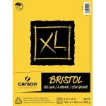 "Canson® XL® 9"" x 12"" Vellum Bristol Pad (Fold Over); Binding: Fold Over; Color: White/Ivory; Format: Pad; Size: 9"" x 12""; Texture: Smooth; Type: Bristol; Weight: 100 lb; (model C400061838), price per pad"