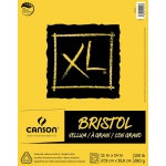 "Canson® XL® 11"" x 14"" Vellum Bristol Pad (Fold Over): Fold Over, White/Ivory, Pad, 11"" x 14"", Smooth, Bristol, 100 lb, (model C400061839), price per pad"