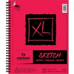 "Canson® XL® 9"" x 12"" Sketch Pad (Side Wire); Binding: Wire Bound; Color: White/Ivory; Format: Pad; Size: 9"" x 12""; Texture: Medium; Type: Sketch; Weight: 50 lb; (model C400061860), price per pad"