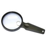 "Carson® MagniView™ Hand Held 3.5"" Magnifier: 2x/4.5x, 3 1/2"", Handheld, (model CDS36), price per each"