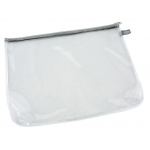 "Alvin® Clear Front Mesh Bag 10"" x 13""; Color: Black/Gray, Clear; Material: Mesh, Vinyl; Size: 10"" x 13""; (model CFB1013), price per each"
