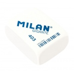 Milan® Giant Rectangle Synthetic Rubber Erasers; Color: White/Ivory; Quantity: 20-Box; Type: Manual; (model CMM403), price per 20-Box box