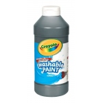 Crayola® Washable Paint Black 16oz: Black/Gray, 16 oz, (model CPE140), price per each