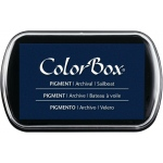 "ColorBox® Full Size Ink Pad Sailboat; Color: Blue; Format: Pad; Ink Type: Pigment; Size: 2 1/2""l x 4""w x 1/4""h; (model CS15228), price per each"