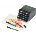 Faber-Castell® PITT® 60-Piece Artist Pen Box Set; Format: Gift Box; Ink Type: India; Tip Type: Brush Nib; Type: Brush Pen; (model FC167150), price per set