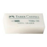 Faber-Castell® Vinyl Eraser Display; Color: White/Ivory; Format: Can; Type: Manual; (model FC800070D), price per each