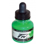 FW Liquid Artists' Acrylic Fluorescent Green Ink; Color: Green; Format: Bottle; Ink Type: Acrylic; Size: 1 oz; (model FW160029349), price per each