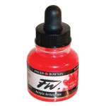 FW Liquid Artists' Acrylic Fluorescent Red Ink; Color: Red/Pink; Format: Bottle; Ink Type: Acrylic; Size: 1 oz; (model FW160029544), price per each
