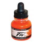 FW Liquid Artists' Acrylic Fluorescent Orange Ink; Color: Orange; Format: Bottle; Ink Type: Acrylic; Size: 1 oz; (model FW160029653), price per each
