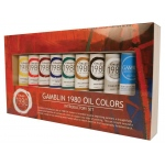 Gamblin 1980 8-Color Oil Paint Set + Medium: Oil, (model GB101110), price per set
