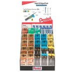 Pentel® Hi-Polymer® Lead & Eraser Display Assortment; Color: Various; Degree: Multi; Lead Color: Black/Gray; Lead Size: Various; Material: Plastic; Refill: Yes; Type: Eraser Refill; (model HPE-23D), price per each