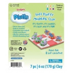 Sculpey® Pluffy® Tropical Variety Pack: 8+, Assorted, 6-Pack, 6 oz, Oven Bake, (model K34301), price per 6-Pack