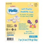 Sculpey® Pluffy® Pastel Variety Pack: 8+, Assorted, 6-Pack, 6 oz, Oven Bake, (model K34302), price per 6-Pack