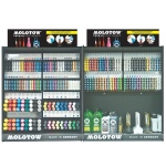 MOLOTOW™ Updated Complete Assortment (Locking Rack); Color: Various; Ink Type: Paint; Refillable: Yes; Tip Size: Multi; Tip Type: Various; Type: Paint Marker; (model MOLFULLASST2), price per each