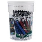 Monteverde® One Touch™ 4-Color Ballpoint/Stylus Pens 50-Piece Tub: Stylus, (model MV45010D), price per each
